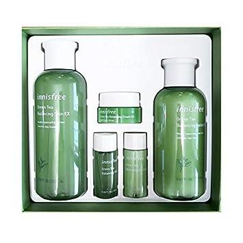 Innisfree Green Tea Balancing Skin Care Set For Normal To Combination Skin 1set, 5pcs