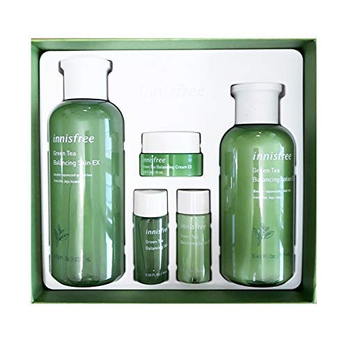 Innisfree Green Tea Balancing Skin Care Set (For Normal To Combination Skin) 1set, 5pcs from Innisfree
