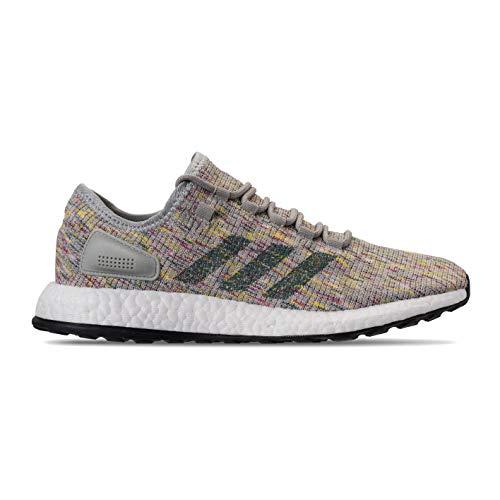 adidas Men's Pureboost Running Shoes Ash Silver/Raw Green/Shock Yellow 12 D(M) US