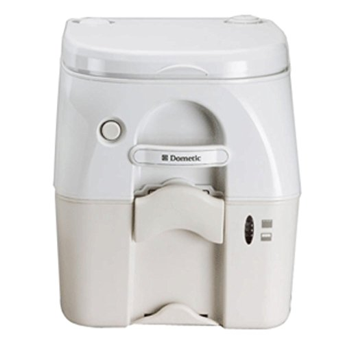 Dometic - SeaLand 975 Portable Toilet 5.0 Gallon - Tan w/Brackets - 1 Year Direct Manufacturer Warranty Dometic 975 Portable Toilet