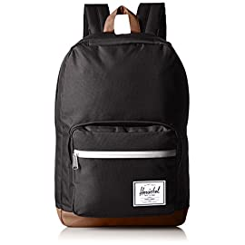 Herschel Supply Co. Pop Quiz Backpack 25 Classic backpack with signature striped lining and logo patch on outer pocket Locker loop Padded, adjustable shoulder straps