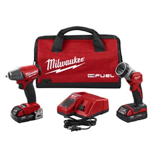 Milwaukee (MLW289522CT) M18 FUEL 3/8'' Impact Wrench With LED Light Kit