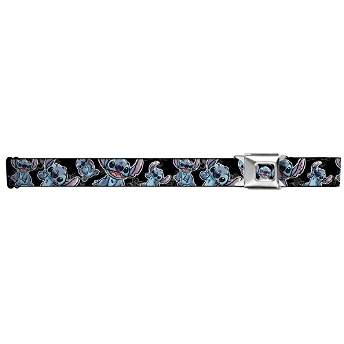 Stitch Poses/hibiscus Sketch Black/gray/blue Seatbelt Belt