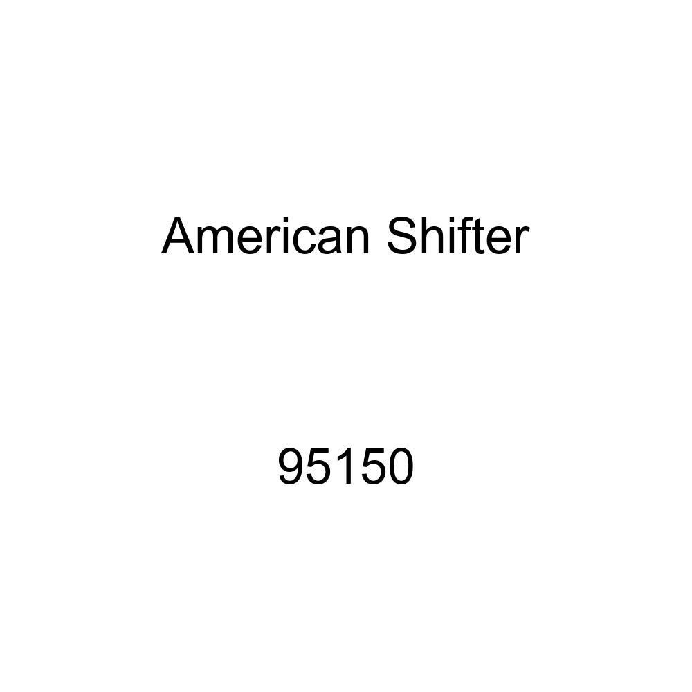 American Shifter 95150 Red Shift Knob with M16 x 1.5 Insert Yellow Flaming Wheel