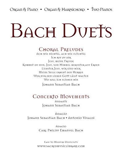 Bach Duets: Organ & Piano • Organ & Harpsichord • 2 Pianos