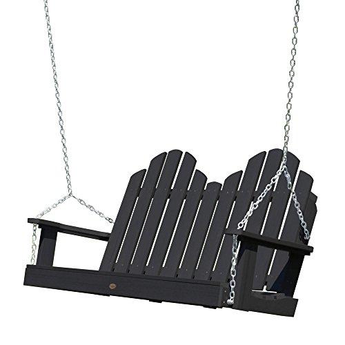 highwood AD-SW1CW52-BKE Classic Westport Porch Swing, 4 Feet Black