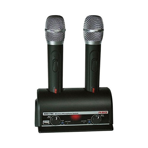 RSQ RM917 Dual Wireless 34 Channel Rechargeable Mic