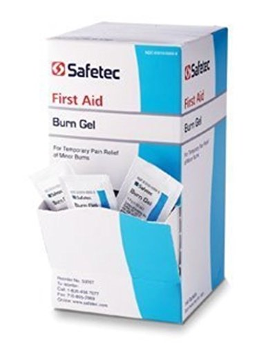First Aid Chemical Burns (Safetec Burn Gel 0.9 gram 144 count box)