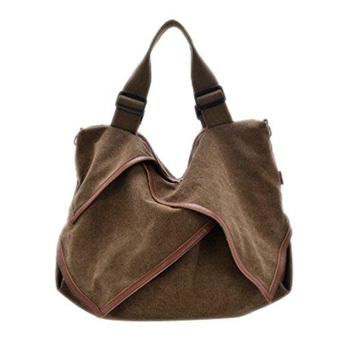 Coffee Canvas Handbags Shoulder Women Handbag With Shoulder Bags Shoppers Bag Casual Handle Totes Oversize Bag AfOwqfd