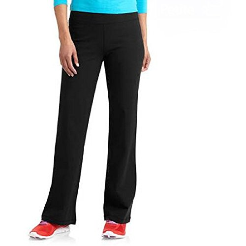 Danskin Now Womens Dri More Bootcut Pants Regular 32 - Yoga, Fitness, Activewear (Large, Black)