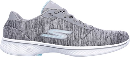 4 Shoe Glorify Women's Skechers Go Gray Blue Walking qxHOCEwW