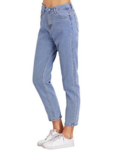 SweatyRocks Womens Juniors Boyfriend Jean High Waist Capri Cropped Denim Jeans