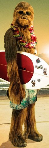 """Star Wars - Door Movie Poster / Print (Chewbacca with Surfboard) (Size: 21"""" x 62"""")"""