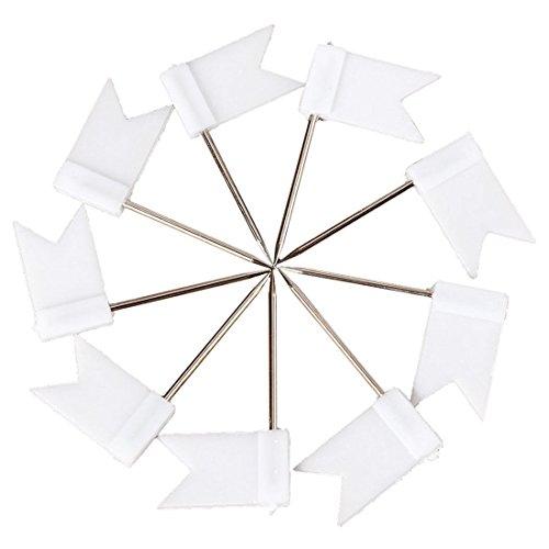 (Flag Shape Push Pin - SODIAL(R)100 Flag Shape Map Pins Cork Notice Board Drawing Pins Push Pin White)