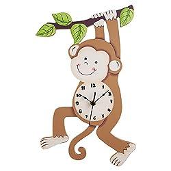 Fantasy Fields Sunny Safari Kids Wall Clock, Brown/Monkey