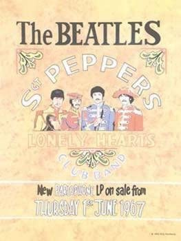 The Beatles-Sgt Pepper Metal Sign