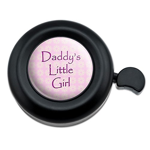 Graphics and More Daddy's Little Girl Pink with Flowers Bicycle Handlebar Bike Bell