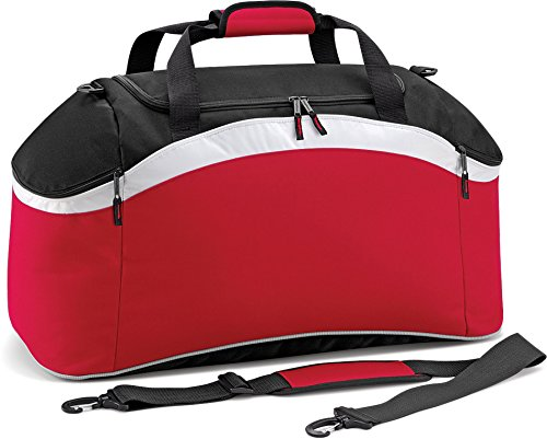 Red Classic Holdall White BagBase Size One Teamwear Black 5CwPxIqXx