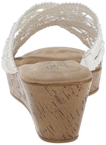 Suave Por Polyurethane de Jerilyn Hush la Weave sandalia Estilo Raffia vestido White Puppies r5OwUCrqx