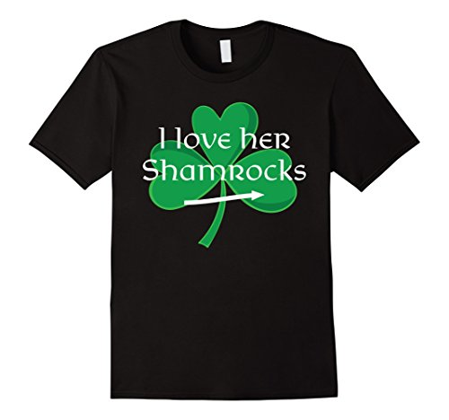 Funny Couples St. Pattys Day T-Shirt I Love Her Shamrocks