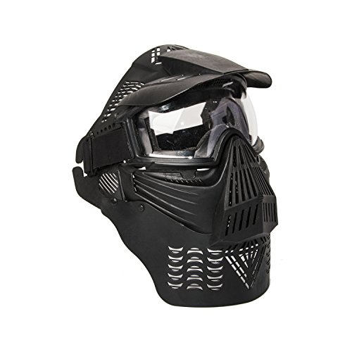 ALEKO PBM225BK Tactical Army Military Anti Fog Paintball Mask with Double Elastic Strap, Black by ALEKO