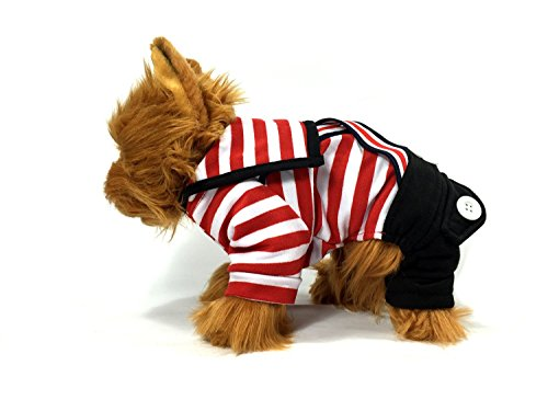 TheDogWear.com Red Striped Sailor Dog Jumpsuit for $<!--$8.00-->