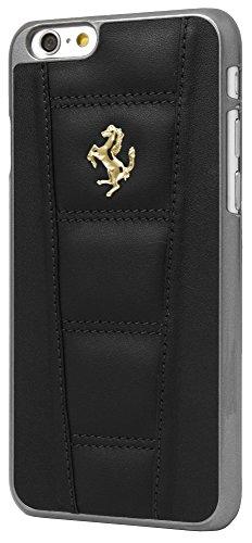 """FE458GHCP6BL Coque en cuir avec Logo d'or pour iPhone 6/6S - 4,7"""" Noir"""