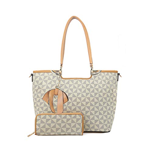 Satchel Purses and Handbags for Women Shoulder Tote Bags Wallets Top Handle Bag 2pcs Set With Adjustable Strap (TP (2019 NEW))
