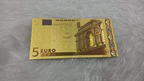 ZYZRYP 1個カラフルユーロ金箔紙幣5ユーロ偽紙幣コレクションクリエイティブギフト 使いやすい (色 : A)