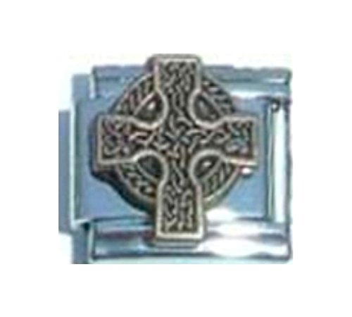 Stylysh Charms Cross Celtic Irish Religious Enamel Italian 9mm Link RE082