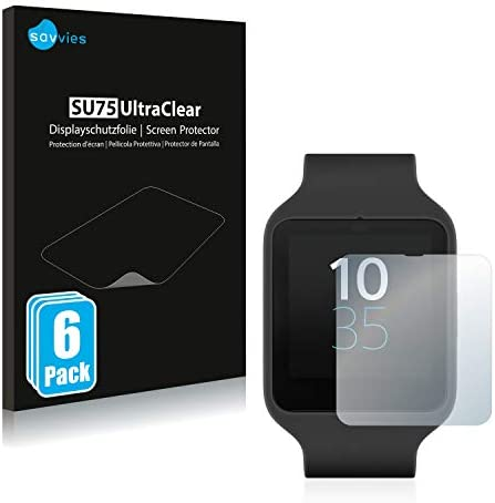 Savvies Crystalclear Screen Protector for Sony HDR-AS100V residue-free removal 100/% accurately fitting very simple assembly