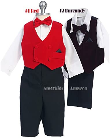 Dustin clothing series Houndstooth Formal Red Bow Tie Vest Baby Boys Girls Toddlers Funny Romper 0-24M