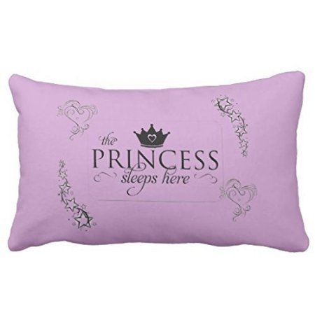 Acelive The Princess Sleeps Here pillow 50% Cotton 50% Polyester 20 x 30 inches Pillowcase by -