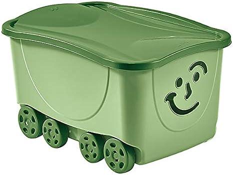 M Home - Caja de almacenaje Infantil con Ruedas, Color Verde Pastel (48 L): Amazon.es: Hogar