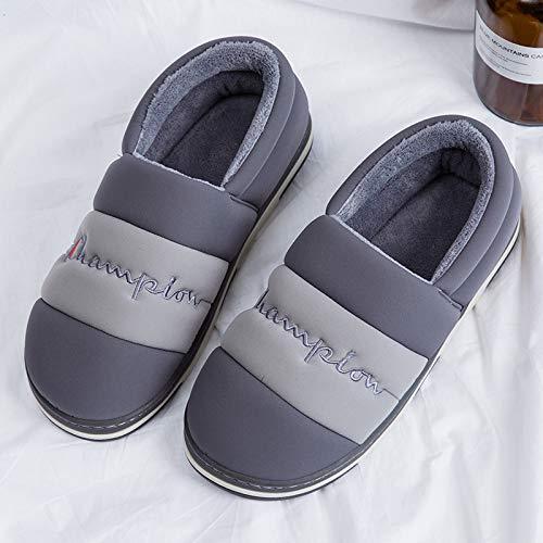 Zapatos Casa Yhujh Home Impermeable Xl Grey En Arrastre De Algodón Green Zapatillas Ocio color Pareja Size Abajo qUwqA