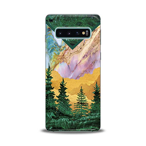 Lex Altern Samsung Galaxy TPU Case s10 Plus A6s s9 Plus A8 s8 A9 Note Green Tree Cover Marble Clear Phone Beautiful Print Desert Protective Modern Design Girl Women Flexible -