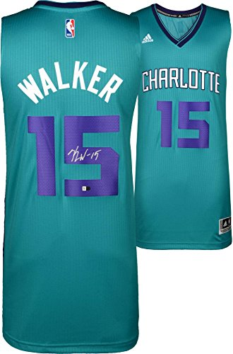 te Hornets Autographed Adidas Teal Swingman Jersey - Fanatics Authentic Certified (Autographed Authentic Nba Basketball Jersey)