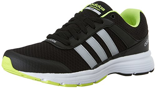 Adidas Neo Mens Cloudfoam Vs City Shoes Nero / Argento Metallizzato / Giallo