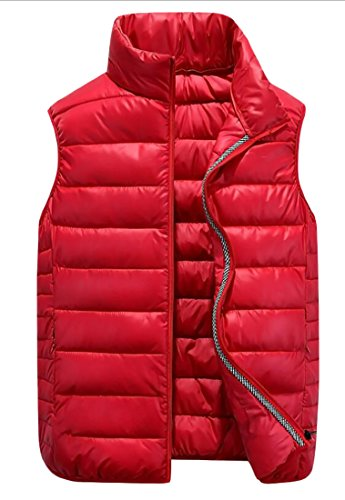 GAGA Men's Puffer Vest Lightweight Packable Puffer Down Jacket Red (Marty Mcfly Vest)