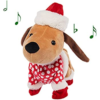 Amazon.com: Simply Genius Animated Christmas Plush Dog
