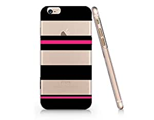 Black Striped Pattern Slim Iphone 6 6S Case, Clear Iphone 6 6S Hard Cover Case For Apple Iphone 6/6S -Emerishop