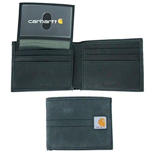 Carhartt Men's Billfold Wallet, legacy black, One Size