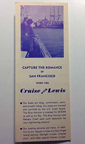 Vintage Original 1950s San Francisco Pier 45 Fisherman's Whart Cruise with Lewis Golden Gate Boat Tours (Golden Pier)
