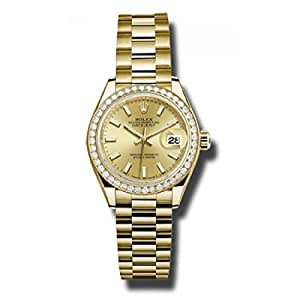 Rolex Datejust Gold Dial Women's Watch 279138