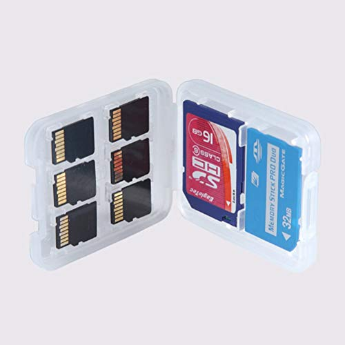 Memory Card Cases - 1pc 8 In 1 Protector Holder Plastic Transparent Micro Hc Tf Ms Memory Card Storage Case Box Bag - Cases Holders Plastic Card -