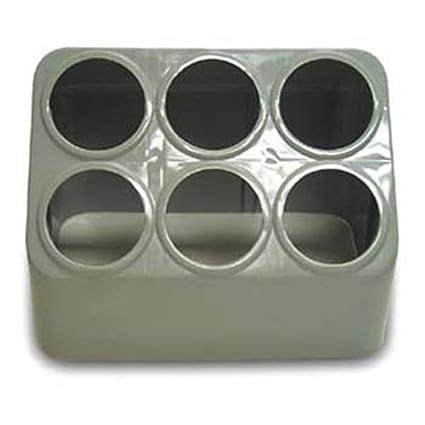 amazon com vollrath 52644 gray silv a tainer 6 hole plastic