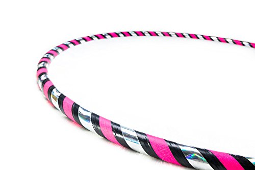 Weighted Fitness Hula Hoop. Great for Exercise, Dancing, Staying in Shape and Having Fun! (Rainbow Pink, Fitness Hoop 40