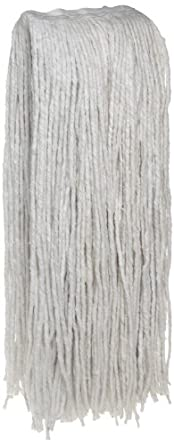 Zephyr Blendup 4-Ply Blended Natural and Synthetic Fibers Cut End Wet Mop Head (Pack of 12)