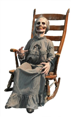Halloween Prop: Mother- Animated - Product Description - Perfectly Preserved. This Mother Slowly Rocks Back And Forth As She Contemplates Your Fate. Rocking Chair Is Not Included. Foam-Filled Body With Metal Armature And Heavy Duty Motor. All El ... -