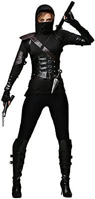 Womens Ninja Assassin Fancy dress costume X-Small: Amazon ...